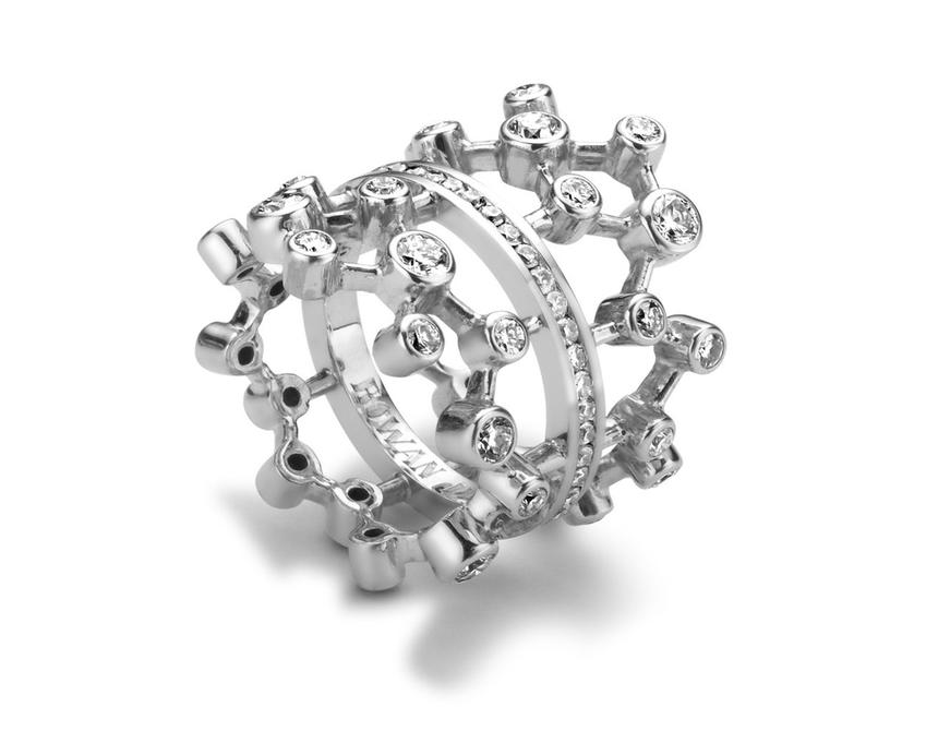 Diamond Dendritic Ring