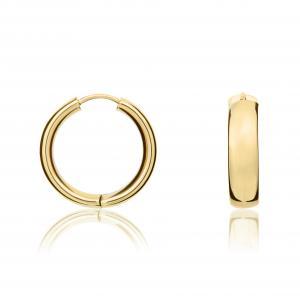 Yellow Gold Hoops Earrings 20mm