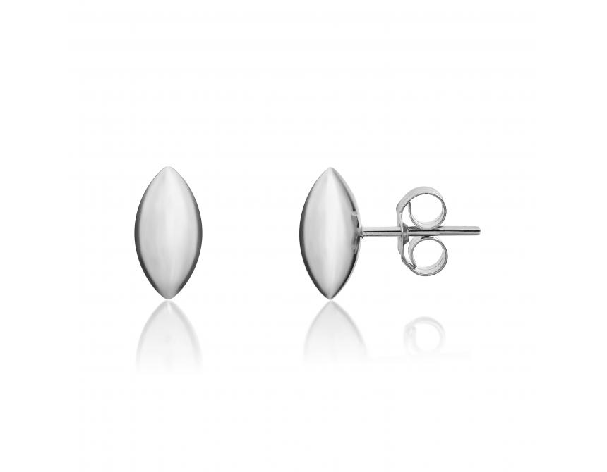 White Gold Marquise Studs