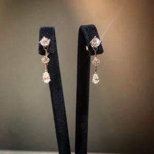 White Gold Drop Diamond Earrings
