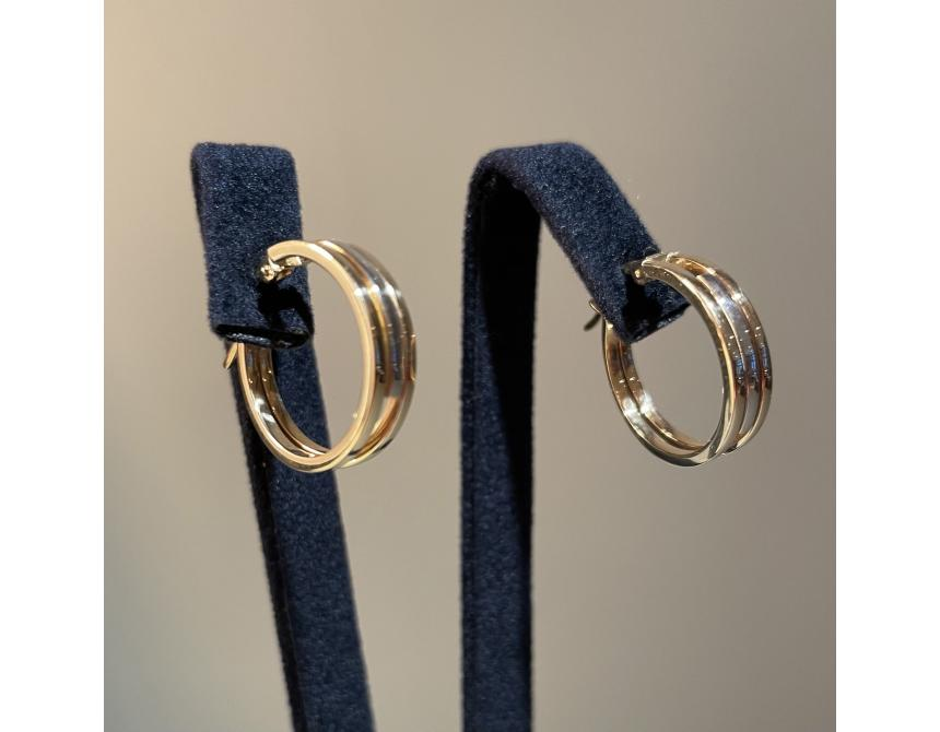 Yellow & White Gold Hoops 18mm