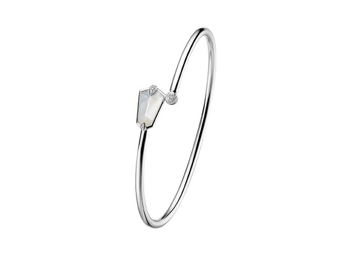 Nova Kite Bangle in White Gold
