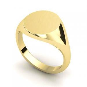 9ct Yellow Gold 11mm Round Signet Ring