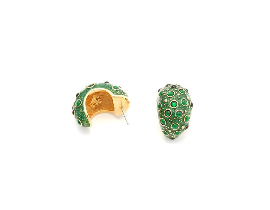 Frog Prince Hoop Earrings