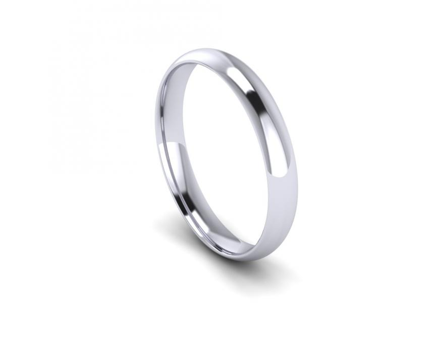 Traditional Court Heavy Weight Band in 18ct White Gold