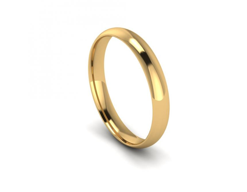 Traditional Court Light Weight Band in 9ct Yellow Gold